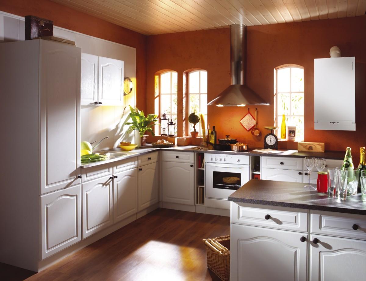 Кухня с котлом отопления дизайн